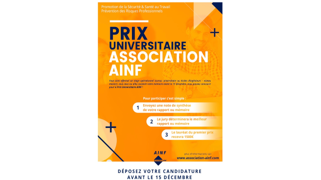 PRIX UNIVERSITAIRE ASSOCIATION AINF