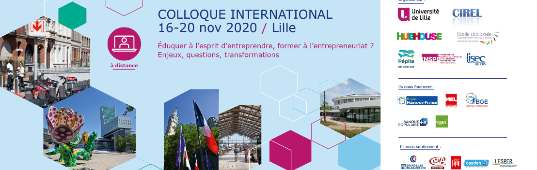 Colloque international: Eduquer à l'esprit d'entreprendre, former à l'entrepreneuriat ? Enjeux, questions, transformations